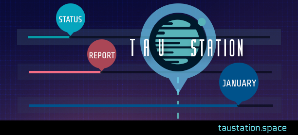 Tau Station Status Report: January
