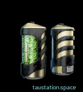 3D rendered concept art of two medication bottles, with round green pills inside.