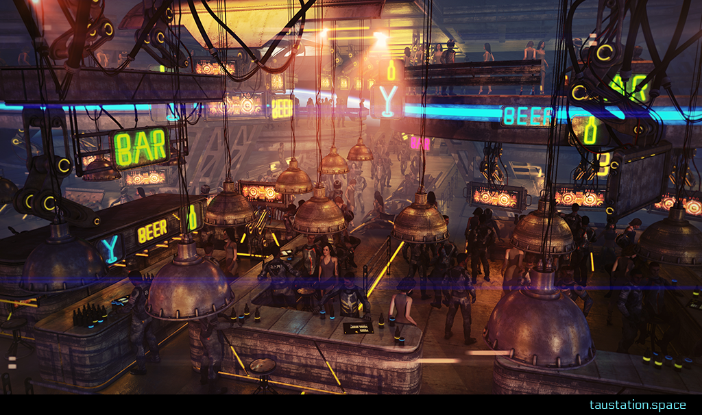 3D background artwork of the Bar