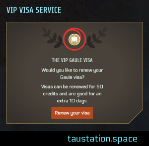 Example: UI of VIP VISA service - cut corner on the lower right