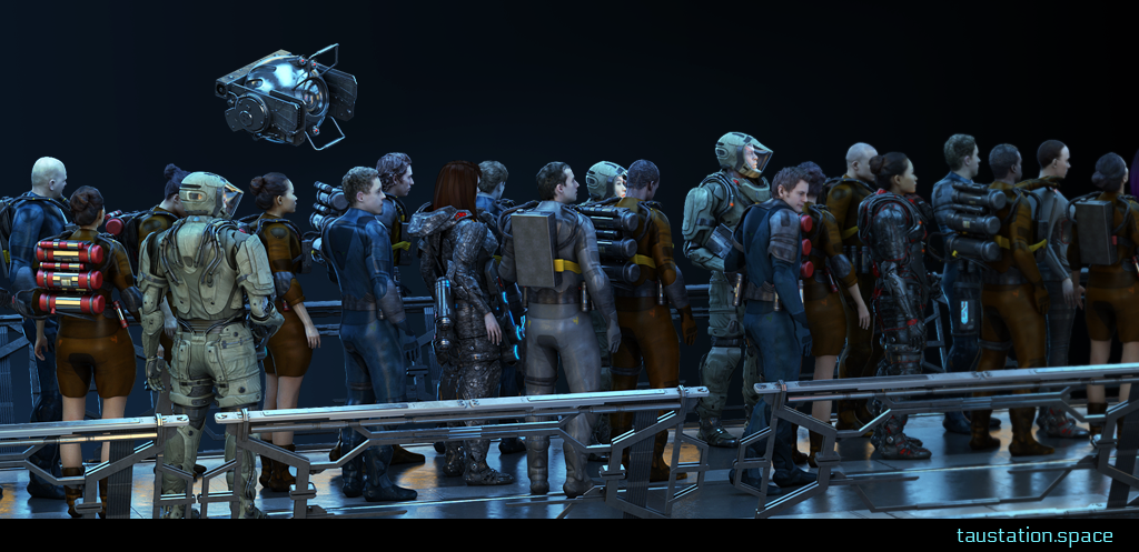 A waiting queue of many people waiting to enter Closed Alpha