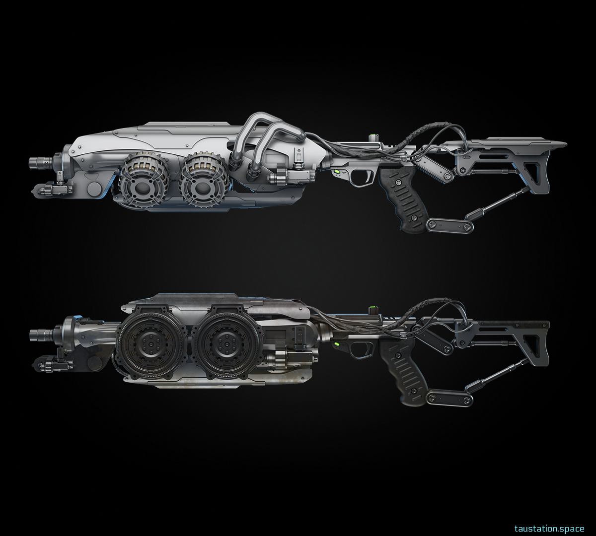 2 heavy energy weapons