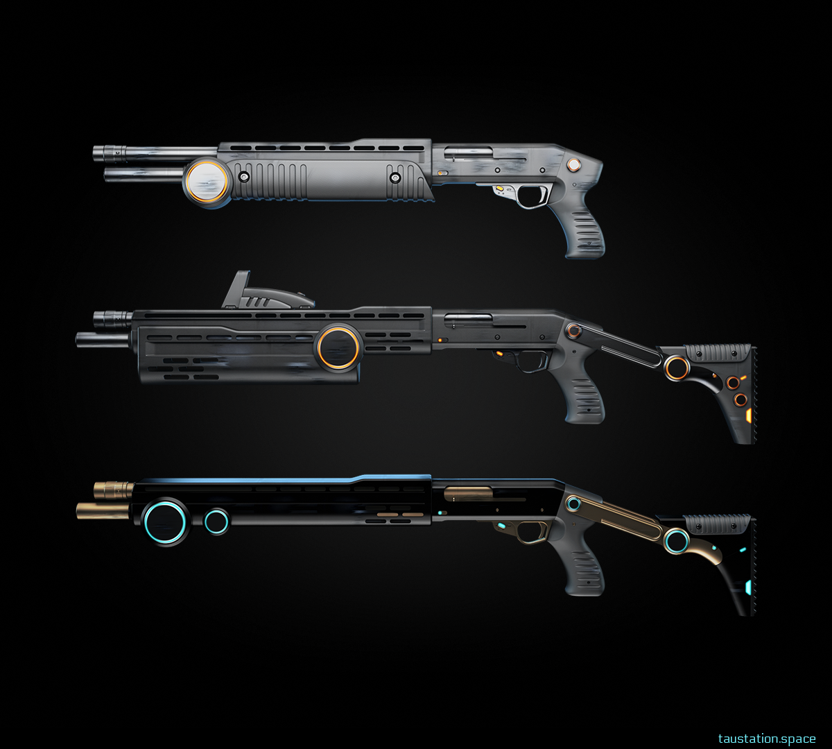 3 shotguns