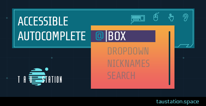 Accessible Autocomplete Box