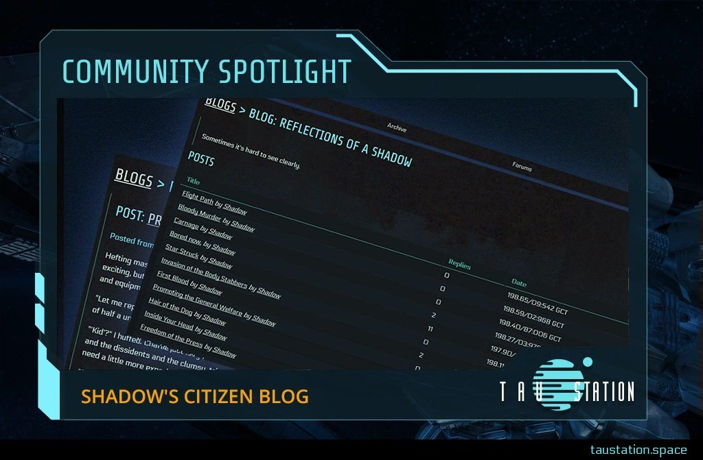 Community Spotlight frame - inside a screenshot of Shadow's blog posts