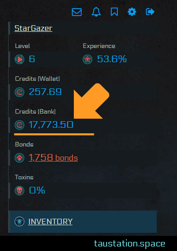 Bank credits have been added to your profile