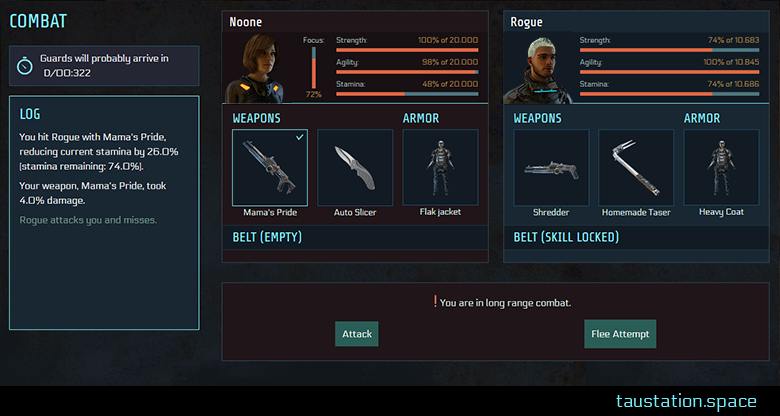 Snippet of the new UI with no navigation bar on the left side shown anymore during combat