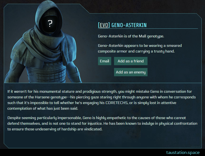 Screenshot of Geno-Asterkin's public profile page