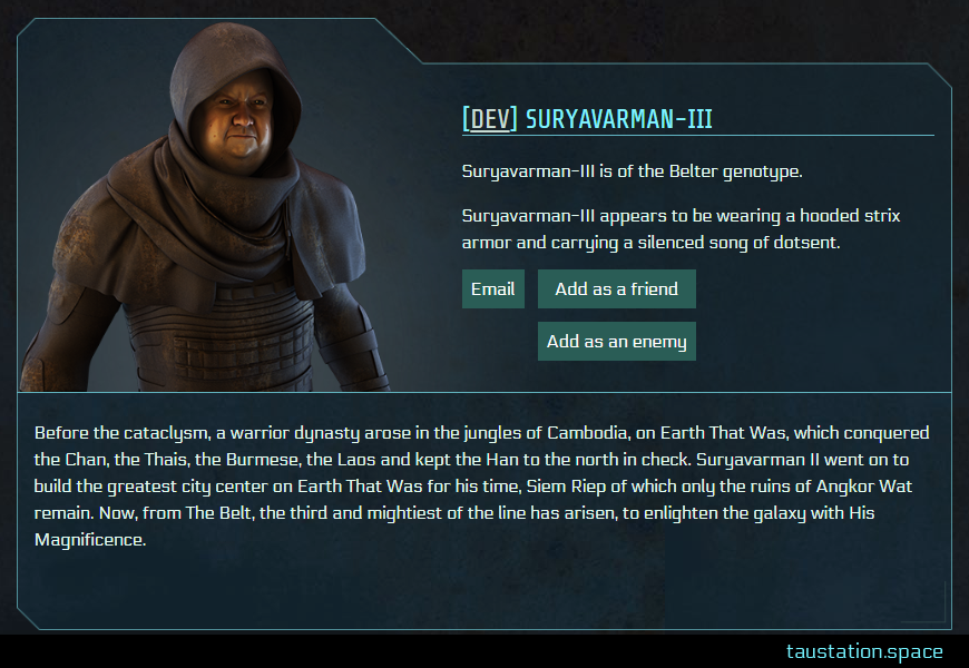 Screenshot of Suryavarman-III's public profile page