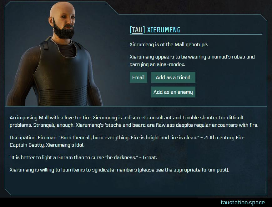 Screenshot of Xierumeng's public profile page