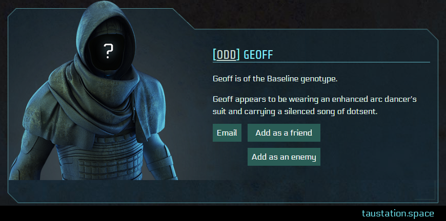 Screenshot of Geoff's public profile page