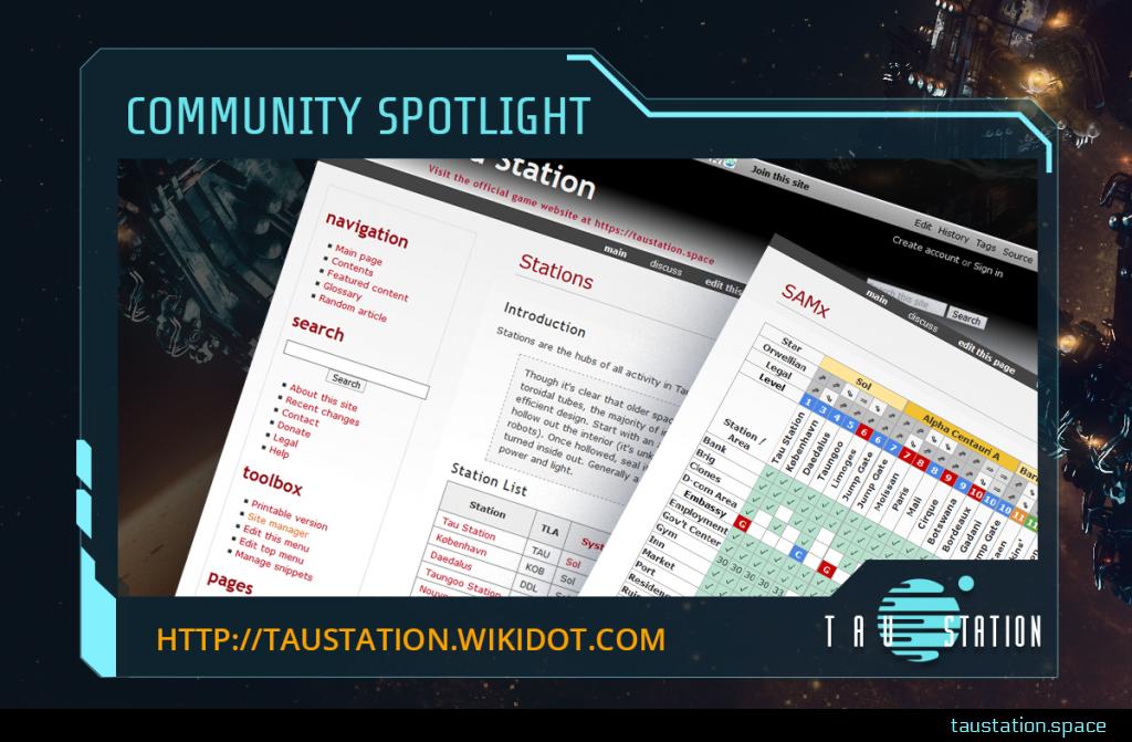Community Spotlight frame - inside two screenshots of the fan wiki