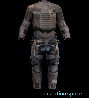 Patchwork Thermoplastic Suit: Heavy scraps of worn leather sewn onto flexible sheets of thermoplastic lend some protection while sacrificing aesthetic and ease of movement.