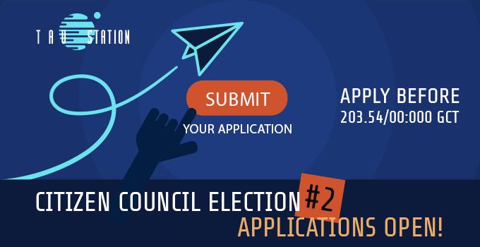 Citizen Council Election #2 – Applications Open!