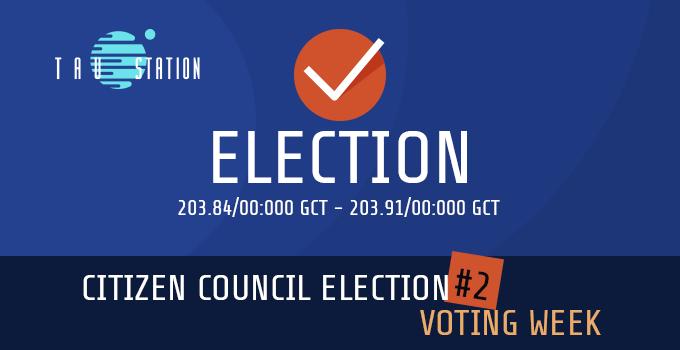 Citizen Council Election #2 – Voting Week!