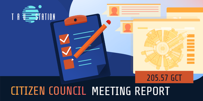 Citizen Council: Meeting Report 205.57 GCT