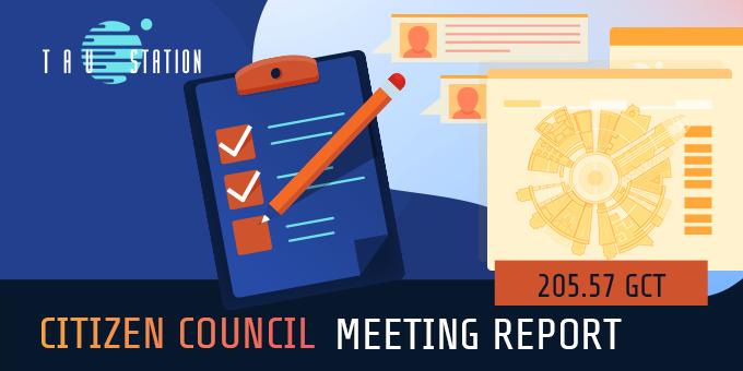 Citizen Council: Meeting Report 205.57 GCT