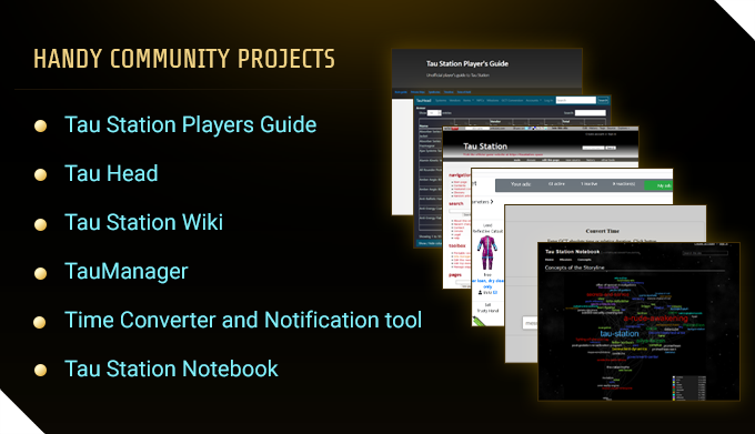 List and screenshots of all Community projects