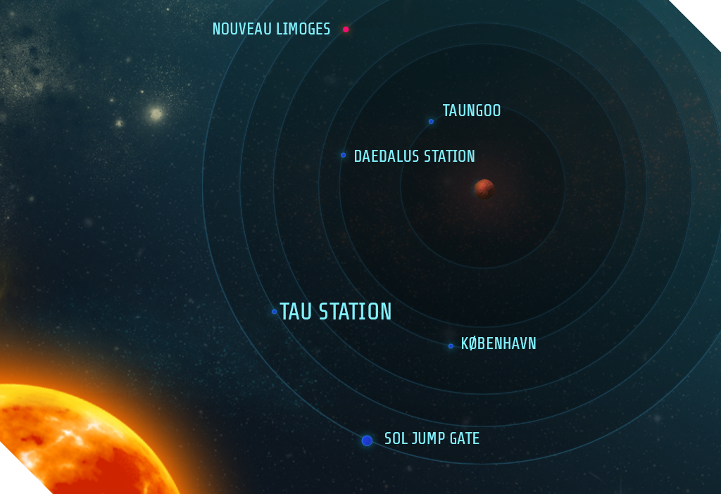 map of the sol system