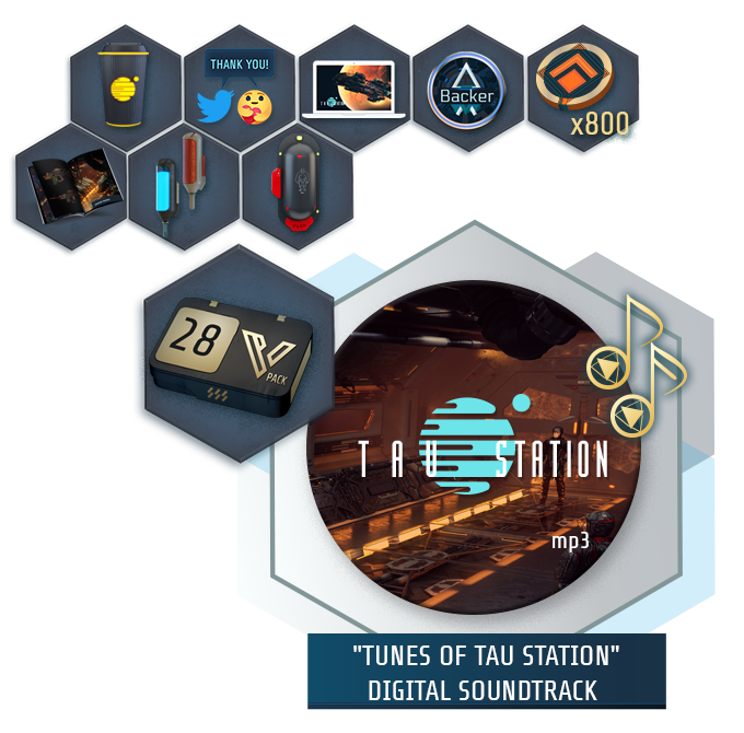 "Collage of all items of the ""Friend of the Cause"" package"