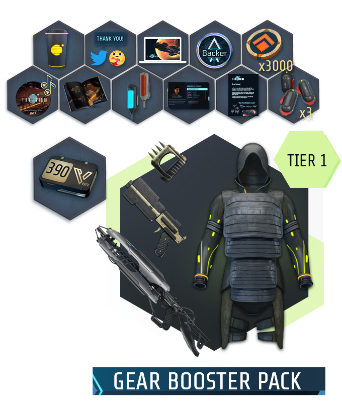 "Collage of all items of the ""On the Crew: Permanent Passenger"" package"