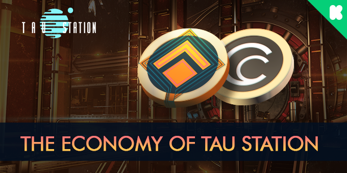 The Economy of Tau Station, with a credit and bond symbol