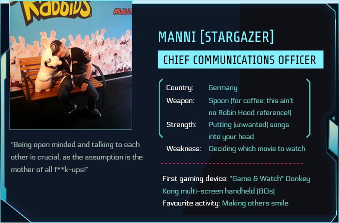 Tau Station ID of Manni aka StarGazer