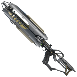 A huge silver rifle