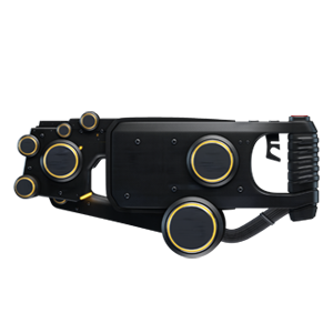 A compact black handgun
