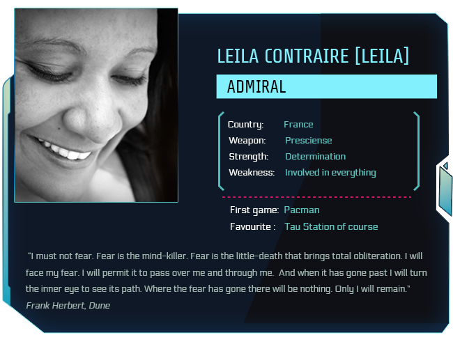 Tau Station ID card of Leila